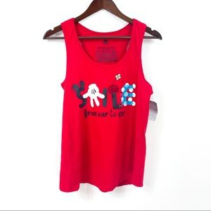 Disney Store Red Mine Mouse Tank Top